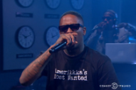 YG and Nipsey Hussle Clean Up 'F**k Donald Trump' for the 'Nightly Show'