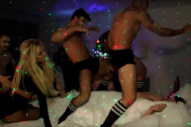 Watch Jimmy Kimmel Pretend to Be Surprised to Find Britney Spears in His Bed