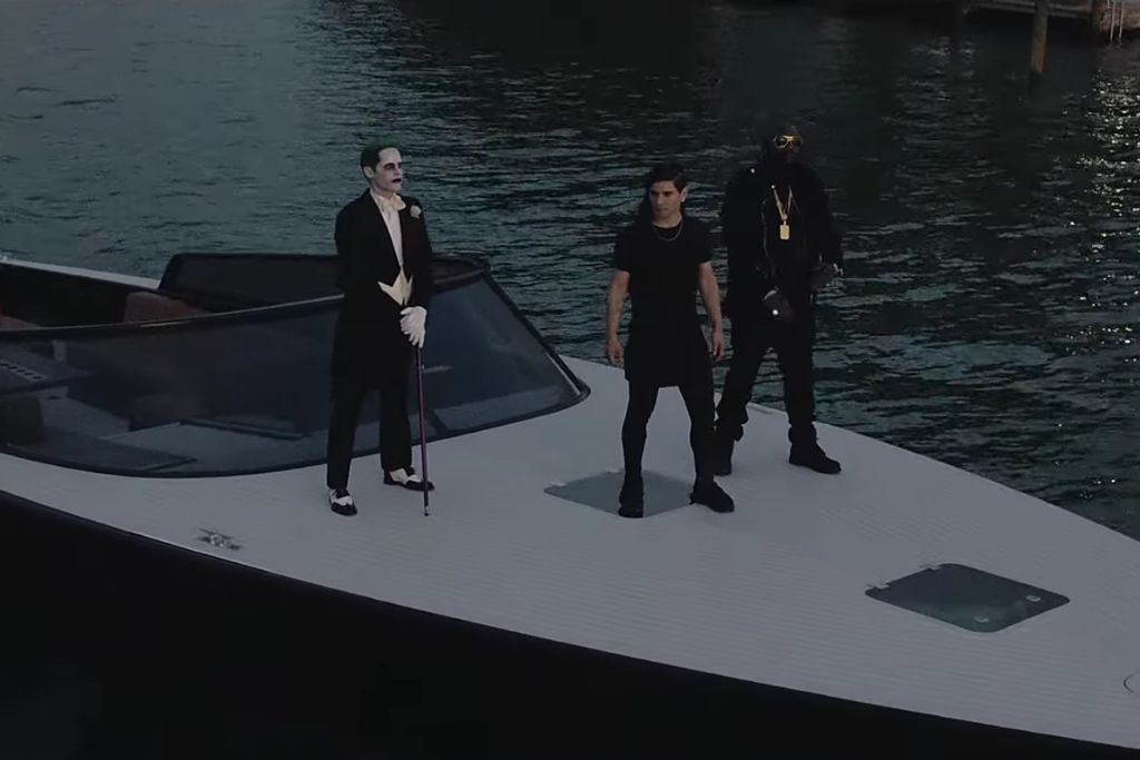 How Much Is A Lamborghini >> Rick Ross and Skrillex Pal Around With Jared Leto's Joker in 'Purple Lamborghini' Video   SPIN