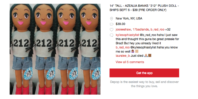 azealia banks doll