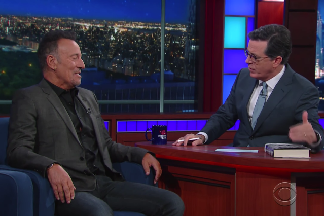 bruce springsteen colbert late show interview video