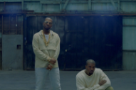 "Kanye West and Juicy J Chill in a Warehouse for ""Ballin"" Video"