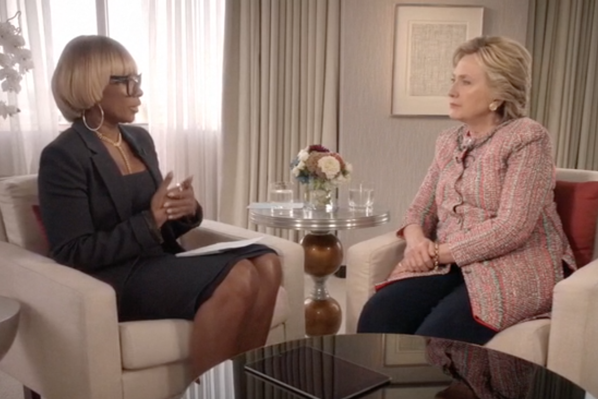 mary j blige hillary clinton the 411 interview video