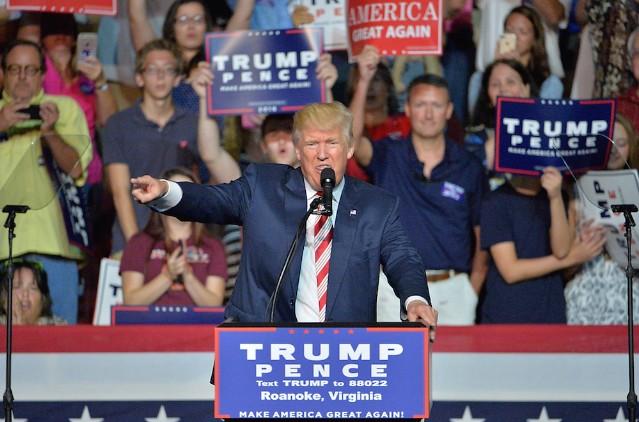 Donald Trump Campaigns In Roanoke, Virginia