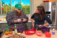 "Action Bronson Teaches Rachael Ray How to Cook ""Explosive Crispy Chicken"""