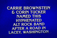 Sleater-Kinney Was a Question on 'Jeopardy!' Last Night