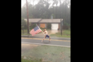 "Watch a Nine-Second Video of a Slayer Fan Raging to ""Raining Blood"" During Hurricane Matthew"