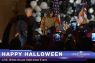 "Watch Barack Obama Try the ""Thriller"" Dance at the White House Halloween Party"