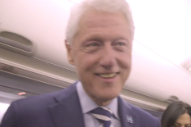 The Second Scariest Thing About This Election Day Are Bill Clinton's Eyes in Hillary's Mannequin Challenge Video