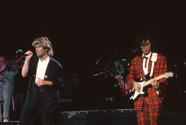 george michael and andrew ridgeley perform as wham in 1985 credit peter charlesworthgetty images - Last Christmas Wham