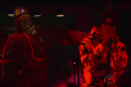 Watch Travis Scott Perform Two Songs Next to a Giant Robot Bird on <i>Colbert</i>
