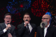 "Watch Stephen Colbert, Michael Stipe, James Franco Perform a 2016-Themed Take on R.E.M.'s ""It's The End of the World As We Know It (And I Feel Fine)"""