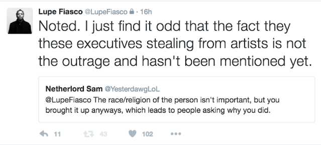 lupe fiasco tweets 7
