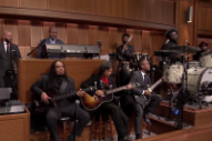 "Watch the Roots Perform ""Super Mario Bros."" Theme With Shigeru Miyamoto"