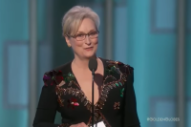 """Hollywood Is Crawling With Outsiders"": Watch Meryl Streep's Golden Globes Speech That Provoked Trump's Latest Tantrum"