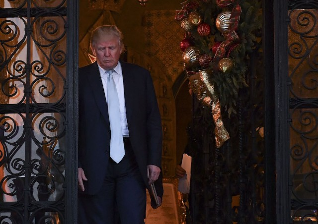 President-elect Donald Trump at Mar-a-Lago Club
