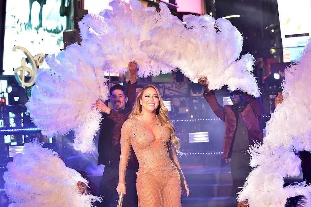 Mariah Carey Yellow Dress