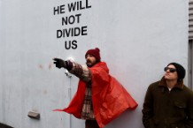 US-POLITICS-TRUMP-PROTEST-LABEOUF