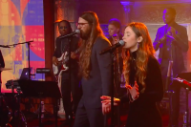 "Watch Flo Morrissey and Matthew E. White Perform Their Excellent ""Grease"" Cover on <i>Colbert</i>"