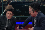 Here's Bob Odenkirk Impersonating Stephen Colbert Impersonating Him