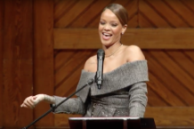 rihanna harvard university humanitarian year award video