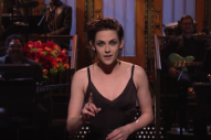 Kristen Stewart Says She&#8217;s &#8220;So Gay,&#8221; Mocks Trump Tweets on <i>SNL</i>