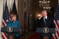"Donald Trump Actually Gave a $300B ""Bill"" to Angela Merkel"