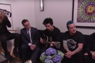 "Watch Billie Joe Armstrong & Stephen Colbert Sing an 'Affordable' Version of ""Good Riddance"""