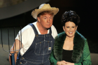 Remember When Donald Trump Sang the <i>Green Acres</i> Theme With Megan Mullally at the Emmys?
