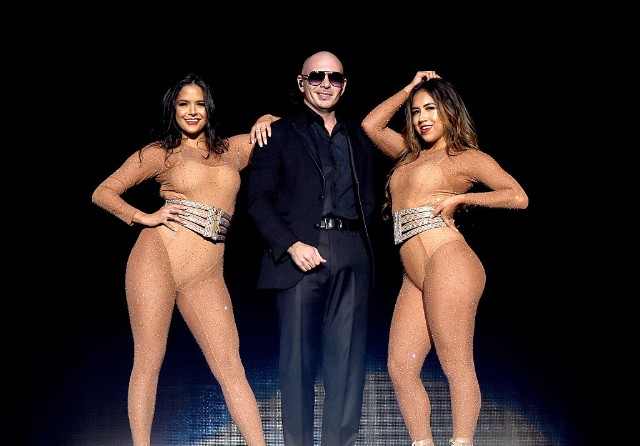 Pitbull Performs At The Forum With Prince Royce, Farruko And Fuego