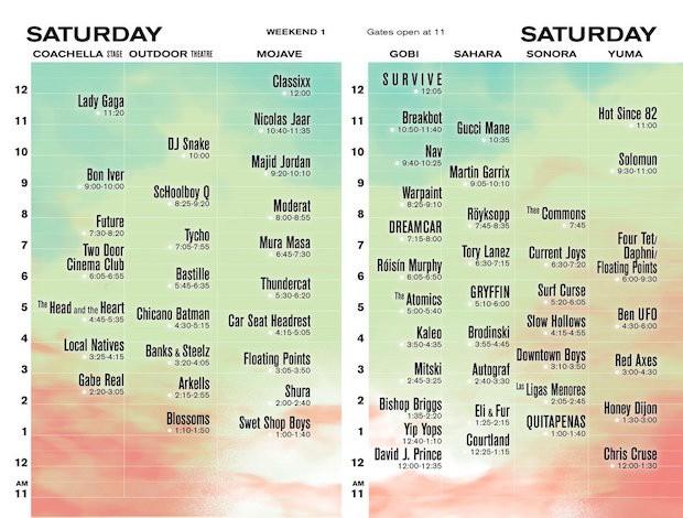 Coachella 2017 Schedule Announced Spin
