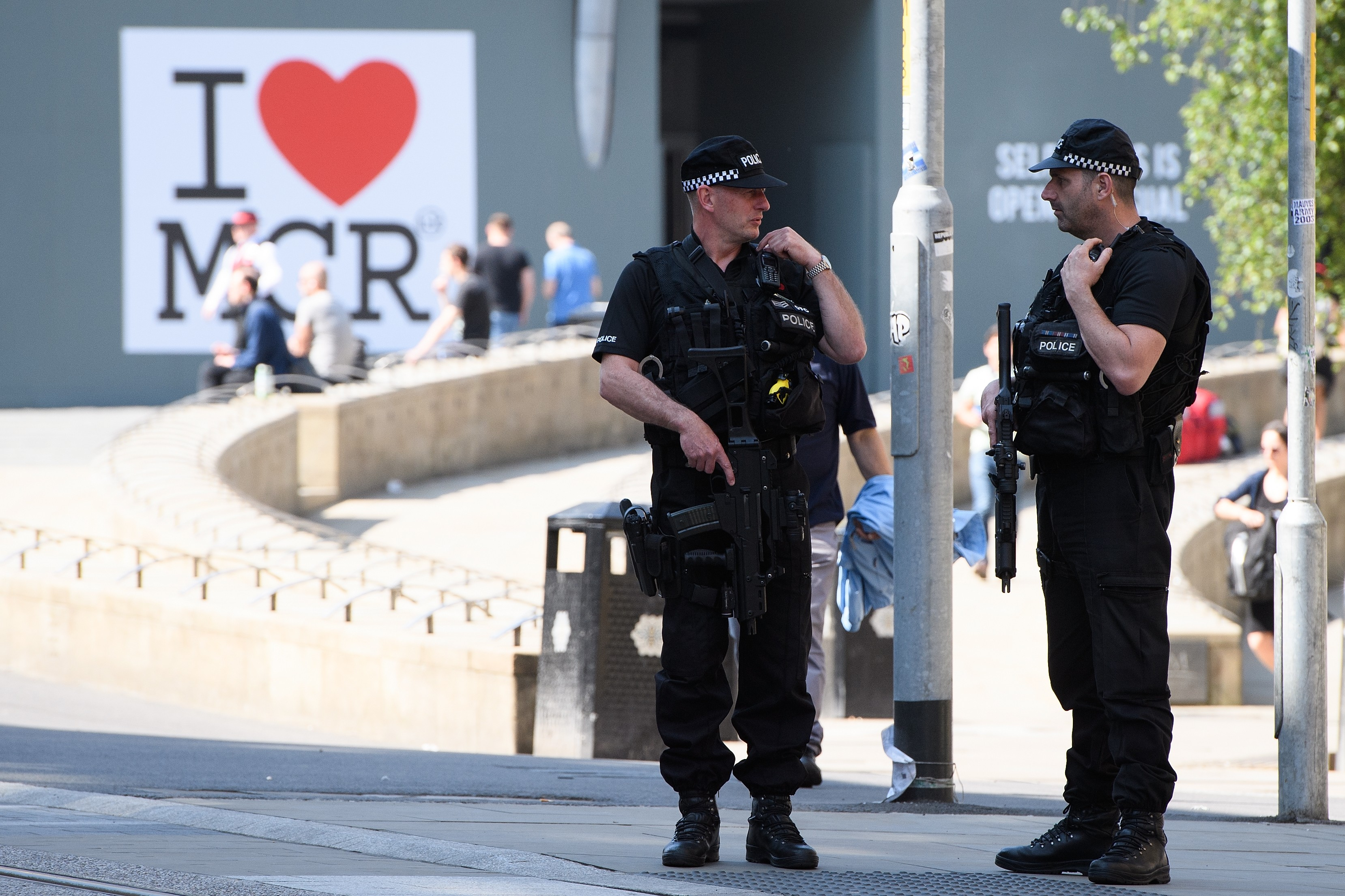 Manchester Observes A Minute Silence For The Victims Of The Manchester Arena Terrorist Attack