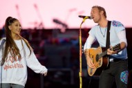 Watch Coldplay Cover Oasis With Ariana Grande and Liam Gallagher at One Love Manchester Benefit Concert