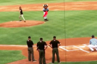 Watch Titus Andronicus' Patrick Stickles Throw Out the First Pitch At the Durham Bulls' Merge Records Night