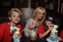 Britney Spears Enjoys A Family Outing At Planet Hollywood Disney Springs