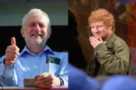 Don't Worry, Ed Sheeran Is a Jeremy Corbyn Supporter