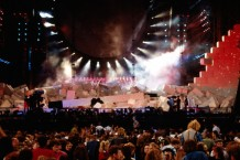 Pink Floyd Performs In Berlin, Germany On July 21, 1990.