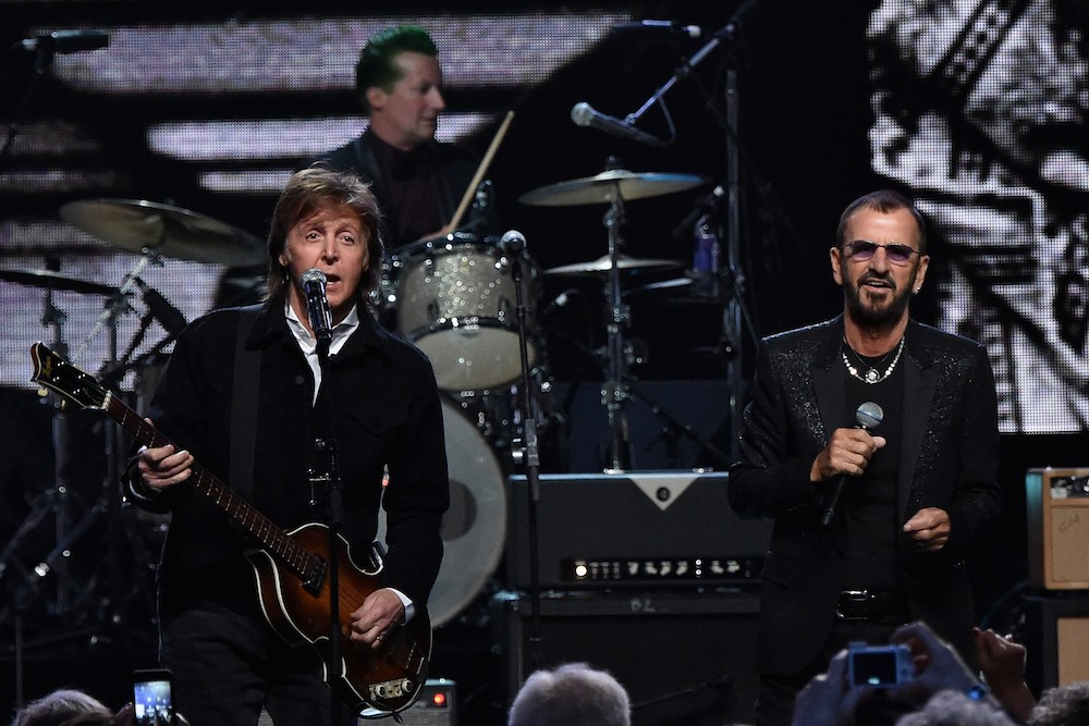 paul mccartney and ringo starr reunite for new song we re on the road again spin. Black Bedroom Furniture Sets. Home Design Ideas