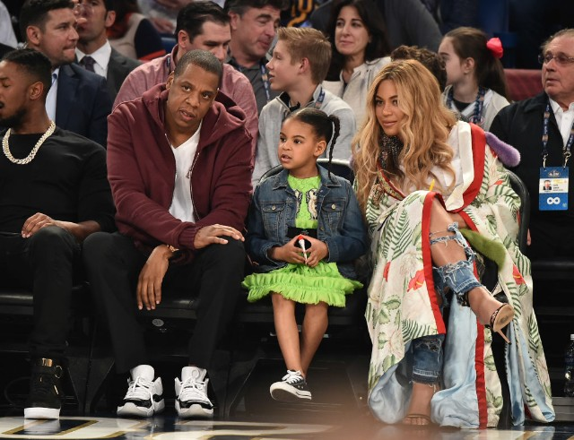 Blue Ivy rapping on Jay Z's album