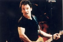 Bruce Springsteen Performing On Stage