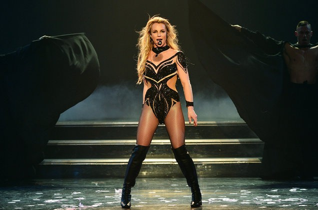 Britney Spears was rushed onstage by a fan