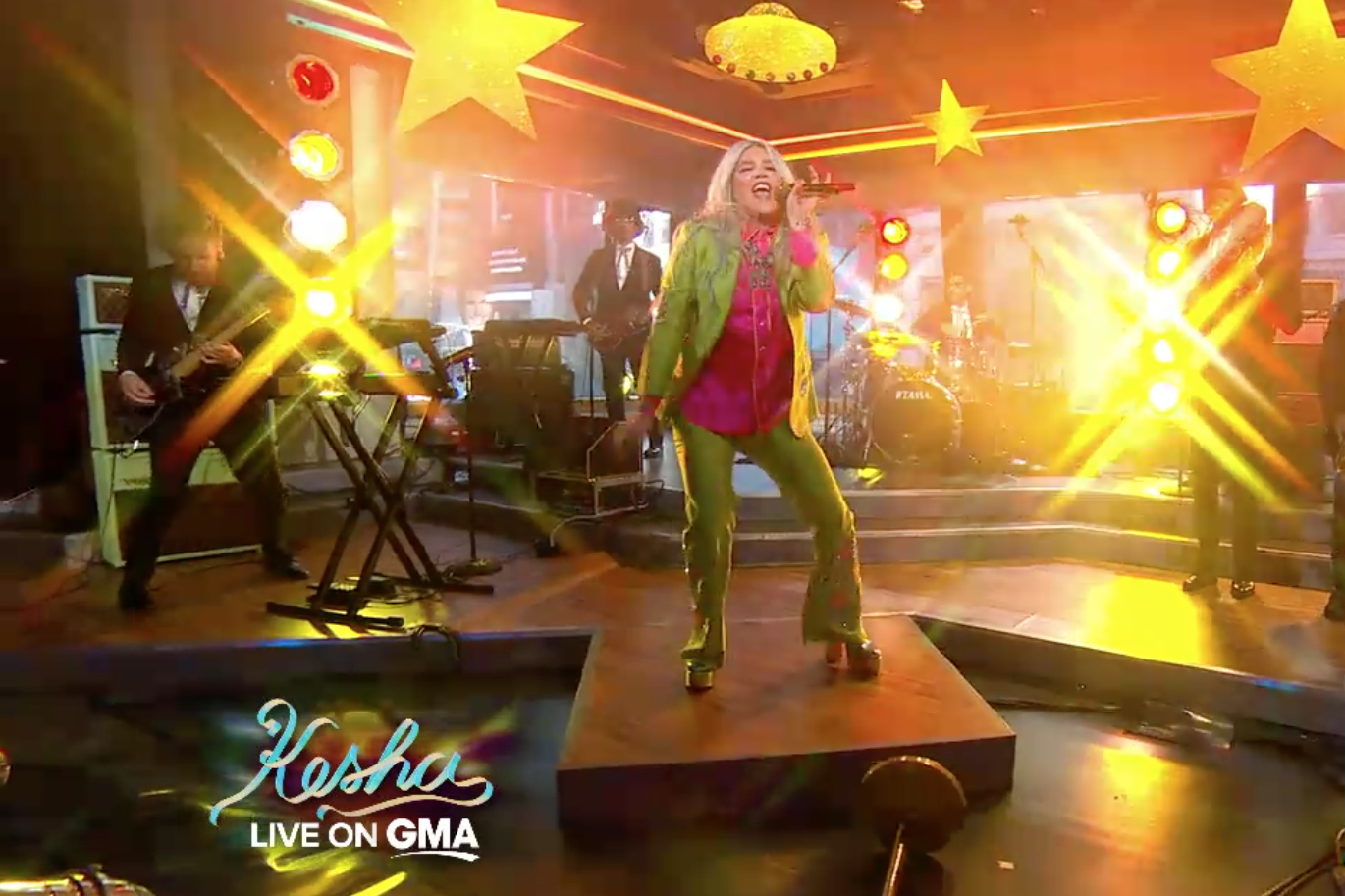"Good Morning America Segments Today : Watch kesha perform ""praying and ""woman on good morning"