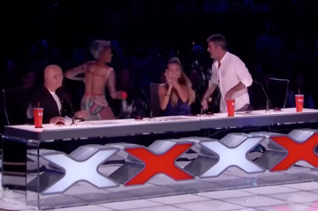 Mel B Throws Water on Simon Cowell During America's Got Talent