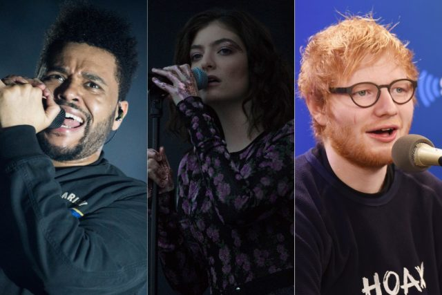the weeknd lorde ed sheeran