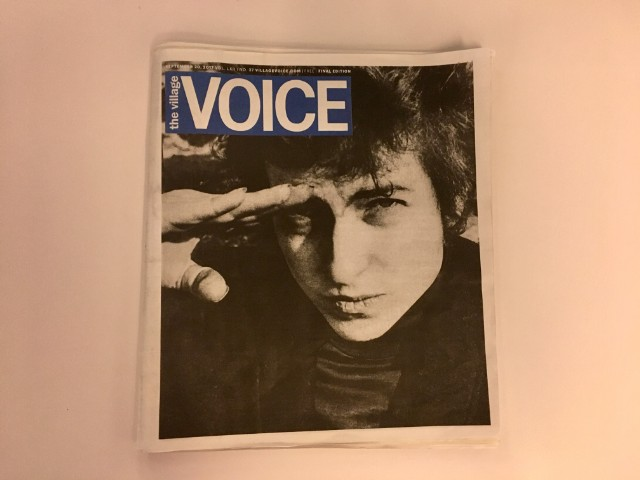 Image result for village voice, bob dylan