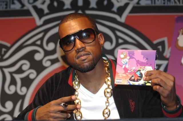 Kanye West Celebrates His New CD At Virgin Megastore
