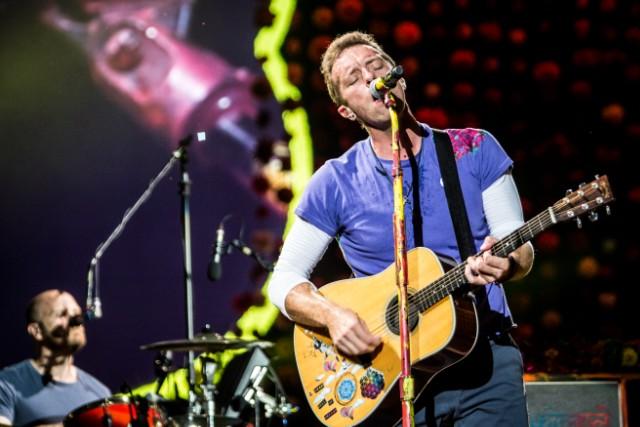 Coldplay in concert in Milan