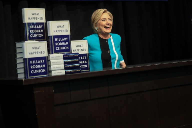 Hillary Clinton Signs Copies Of Her New Book