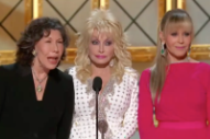 Emmys 2017: Lily Tomlin, Jane Fonda, and Dolly Parton Criticize Donald Trump During <i>9 to 5</i> Reunion