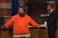 Watch Action Bronson Serve Baked Ziti Pizza on <i>Seth Meyers</i>